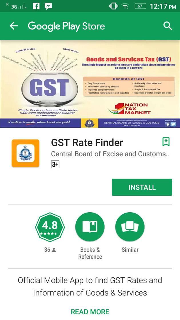 GST Rates Finder App