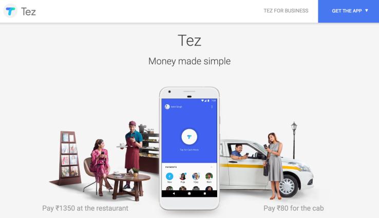 Google payment app Tez