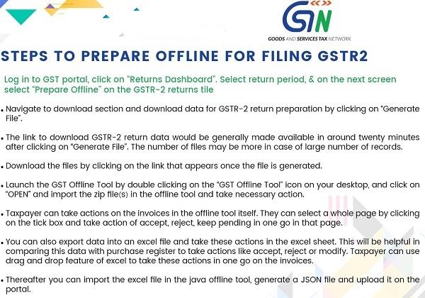 prepare GSTR-2 offline