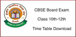 CBSE 10th and 12th Date Sheet and Exam Date 2019